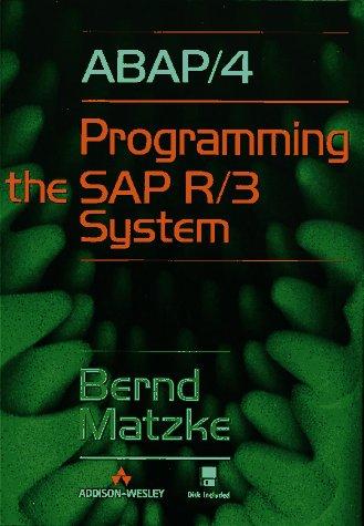9780201924718: ABAP/4: Programming the SAP(R) R/3(R) System