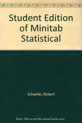 9780201955125: Student Edition of Minitab Statistical