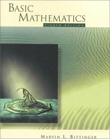 9780201959581: Basic Mathematics (8th Edition)