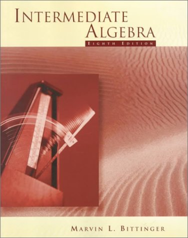 9780201959604: Intermediate Algebra (8th Edition)