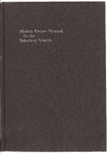 9780202300115: Modern Systems Research for the Behavioral Scientist; A Sourcebook.