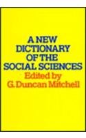 9780202302850: A New Dictionary of the Social Sciences