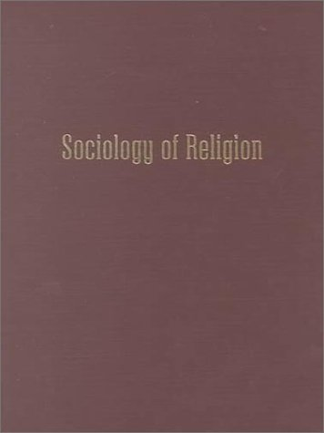 9780202305912: Sociology of Religion: An Historical Introduction