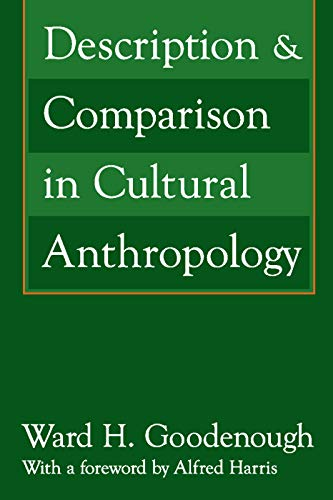 9780202308616: Description and Comparison in Cultural Anthropology
