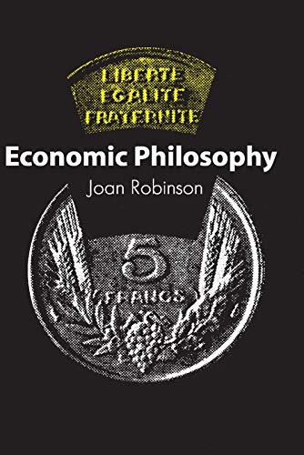 9780202309088: Economic Philosophy