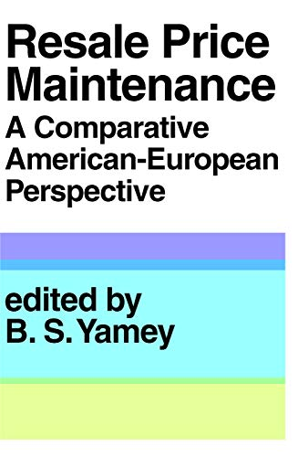 9780202362274: Resale Price Maintainance: A Comparative American-European Perspective