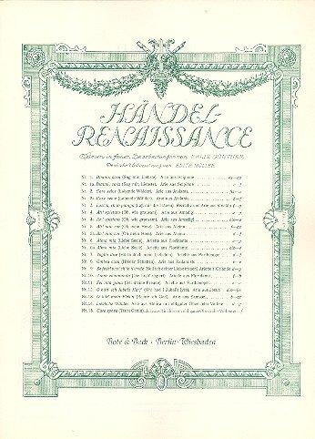 9780202501703: Händel-Renaissance (Nr. 6 Alma mia)
