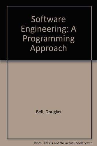 9780202648569: Software Engineering: A Programming Approach