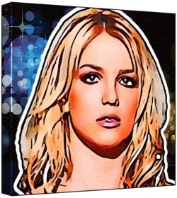 9780203478745: Britney Spears - Pop Art Print (Multicolour; Disco Lights Background) 50 x 50 x 2 cm Large Square Deep Box Canvas