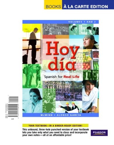 9780205000494: Hoy día: Spanish for Real Life, Volumes 1 and 2, Books a la Carte Edition