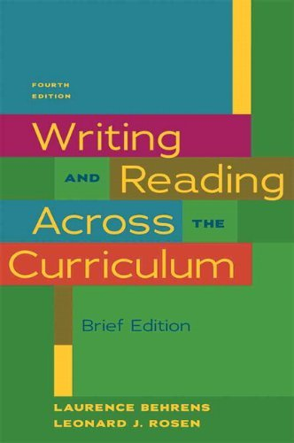 9780205000692: Writing & Reading Across the Curriculum, Brief Edition (4th Edition)