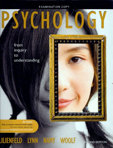 9780205001675: Psychology From Inquiry to Understanding
