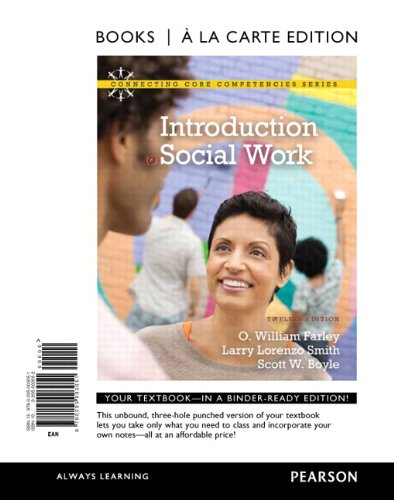 Introduction to Social Work, Books a la: Farley, O. William;