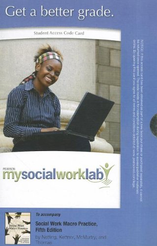 9780205003273: MySocialWorkLab without Pearson eText -- Standalone Access Card -- for Social Work Macro Practice (5th Edition) (Mysocialworklab (Access Codes))