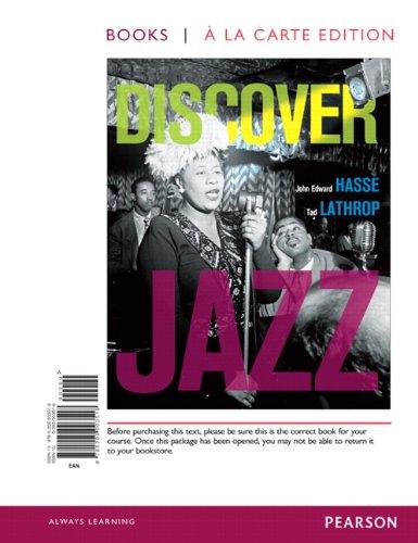 9780205003518: Discover Jazz, Books a la Carte Edition
