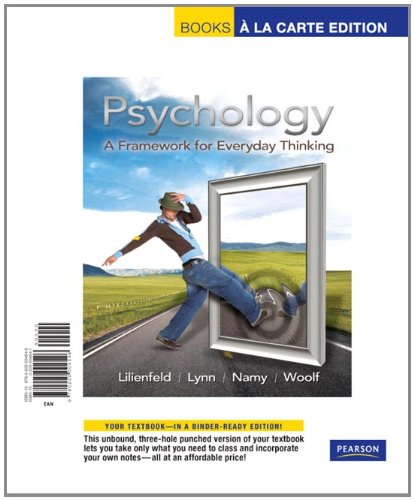 9780205004546: Psychology: A Framework for Everyday Thinking, Books a la Carte Edition
