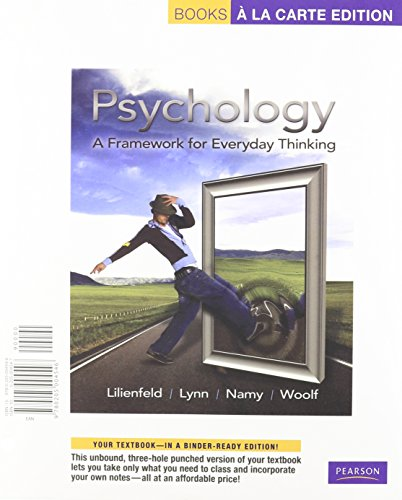 9780205004898: Psychology: A Framework for Everyday Thinking, Books a la Carte Plus MyPsychLab -- Access Card Package