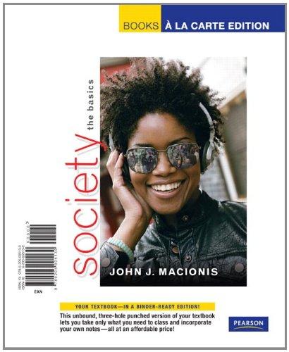 9780205005130: Society: The Basics, Books a la Carte Edition (11th Edition)