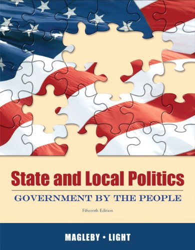 9780205006397: State and Local Politics: Government by the People (15th Edition)