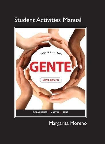 Student Activities Manual: Neus J. Sans;