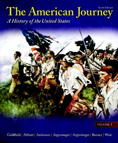 9780205010578: The American Journey: Volume 1 (6th Edition)