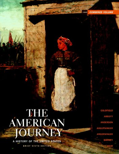 9780205010615: The American Journey: Brief Edition Combined Volume (6th Edition)
