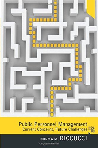 9780205012671: Public Personnel Management: Current Concerns, Future Problems (5th Edition)