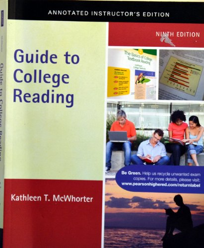 9780205013470: Guide to College Reading (Annotated Instructor's Edition)