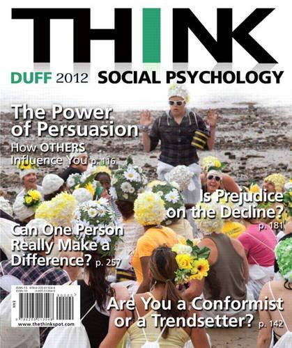 9780205013548: THINK Social Psychology 2012 Edition