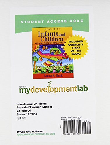 9780205013852: MyDevelopmentLab with Pearson eText -- Standalone Access Card -- for Infants and Children (7th Edition)