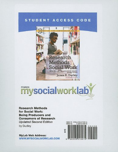 MySocialWorkLab -- Standalone Access Card -- for: James R. Dudley