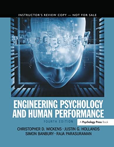 9780205015603: Engineering Psychology & Human Performance