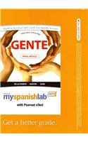 9780205017409: MySpanishLab with Pearson eText -- Access Card -- for Gente: Nivel básico (multi semester access) (3rd Edition)