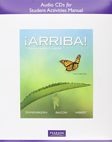 9780205017522: Audio CDs for the Student Activities Manual for Arriba!: Comunicaci N y Cultura