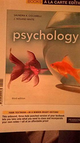 9780205020065: Psychology, Books a La Carte Edition (3rd Edition)