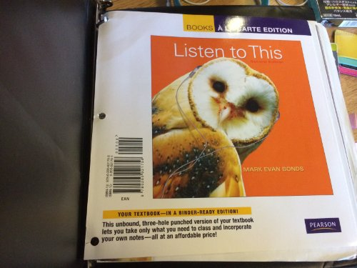 9780205021758: Listen to This, Books a la Carte Edition (2nd Edition)