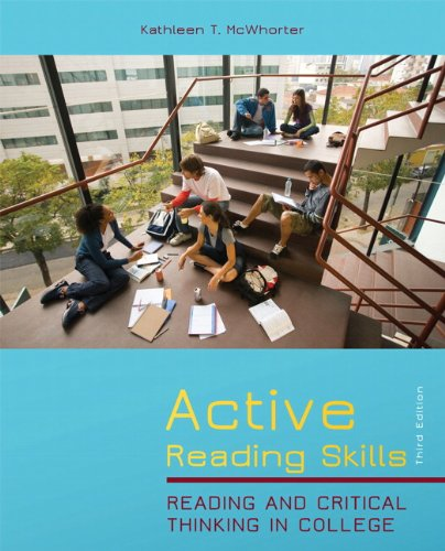 9780205028436: Active Reading Skills: Reading and Critical Thinking in College (3rd Edition)