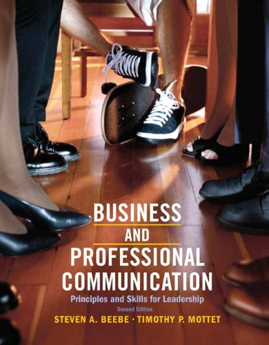 9780205028993: Business & Professional Communication: Principles and Skills for Leadership (2nd Edition)