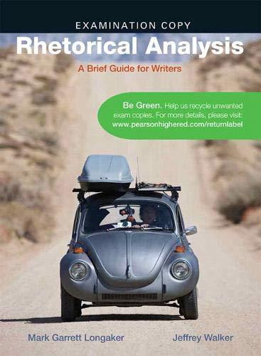 9780205031146: Rhetorical Analysis