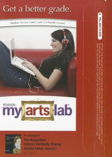 9780205032549: The MyArtsLab -- Standalone Access Card -- for Humanities: Culture, Continuity and Change, Volume I: Prehistory to 1600: Prehistory to 1600 (2nd Edition) (MyArtsLab (Access Codes))