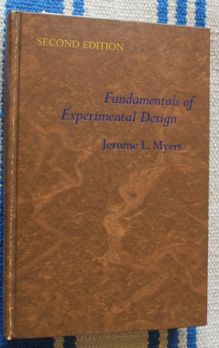 Fundamentals of experimental design: Myers, Jerome L.