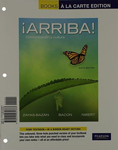 9780205034383: ¡Arriba!: Comunicación y cultura, Books a la Carte Edition (6th Edition)