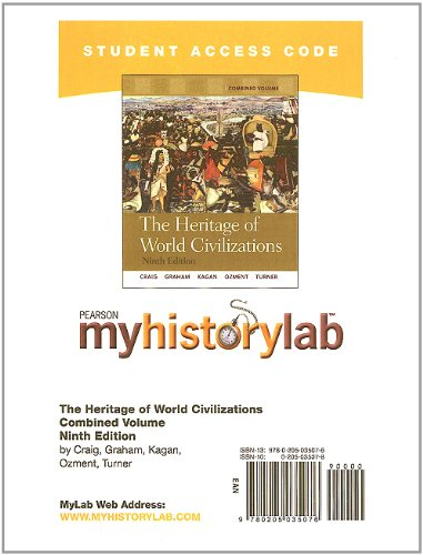 9780205035076: MyHistoryLab -- Standalone Access Card -- for The Heritage of World Civilizations, Combined Volume (9th Edition) (Myhistorylab (Access Codes))