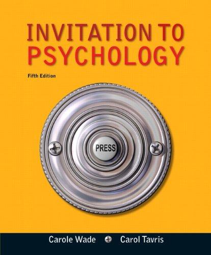 9780205035199: Invitation to Psychology (5th Edition)