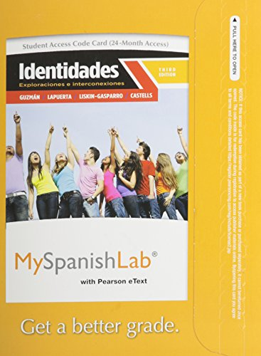 MySpanishLab with Pearson eText -- Access Card -- for Identidades (multi semester access) (3rd ...