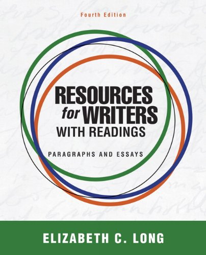 Resources for writers with readings by elizabeth c. Long (2011.
