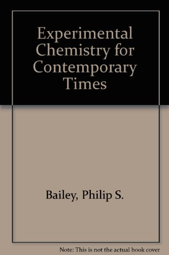 9780205044894: Experimental Chemistry for Contemporary Times