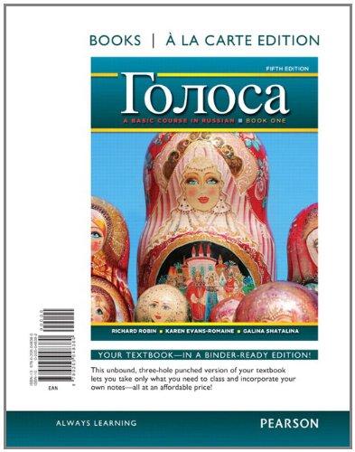 Golosa: A Basic Course in Russian, Book: Robin, Richard M.;