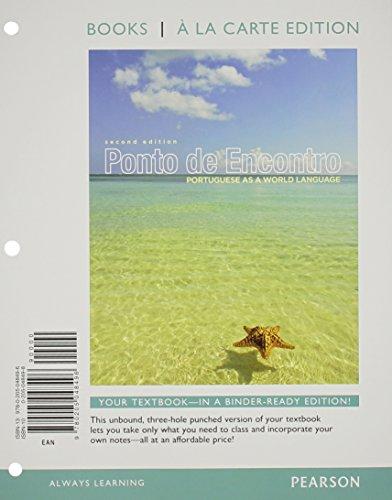 9780205048496: Ponto de Encontro: Portuguese as a World Language, Books a la Carte Edition (2nd Edition)