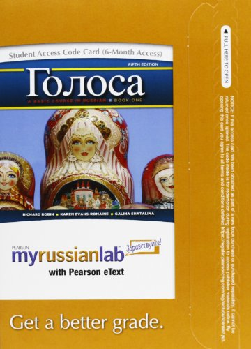 9780205048939: Golosa: A Basic Course in Russian, Book One, Books a la Carte Plus MyRussianLab one semester with eText -- Access Card Package (5th Edition)